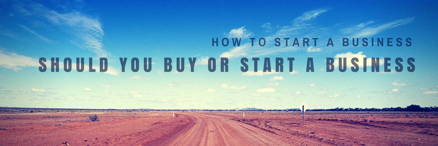 buy or start a business